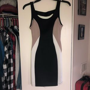 Black, white, taupe XS Charlotte Russe Dress